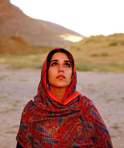 An Iranian woman considering ancient history